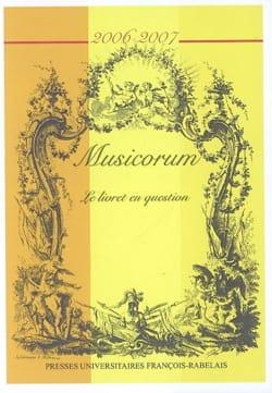 Musicorum, n° 5 (2006-2007) : Le livret en question - laflutedepan.com