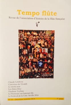 Tempo flûte n° 10 (2e semestre 2014) - Revue - laflutedepan.com