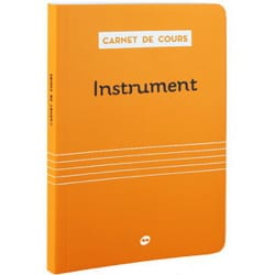 Carnet de cours - COURSEBOOK: INSTRUMENT - Sheet Music - di-arezzo.co.uk