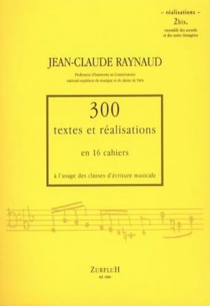 300 Textes et Realisations Cahier 2bis (réalisations): ensembles des accords et laflutedepan