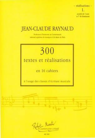 RAYNAUD Jean-Claude - 300 Texte und Realisationen Notizbuch 1 (Realisierungen): Akkorde von 3 Klängen - Buch - di-arezzo.de