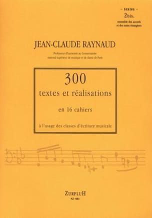RAYNAUD Jean-Claude - 300 Texts and Realizations Book 2 bis (texts): set of chords and notes - Book - di-arezzo.co.uk