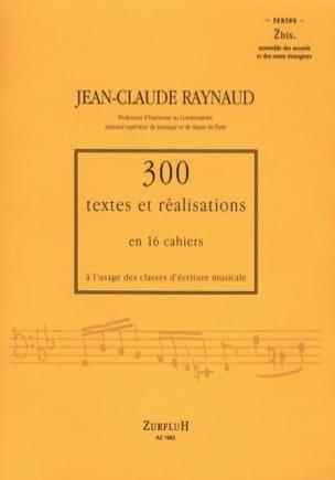300 Textes et Realisations Cahier 2 bis (textes): ensemble des accords et notes laflutedepan