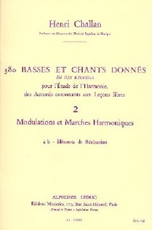 Henri CHALLAN - 380 BASSES AND SONGS GIVEN, Flight 2B - Book - di-arezzo.com