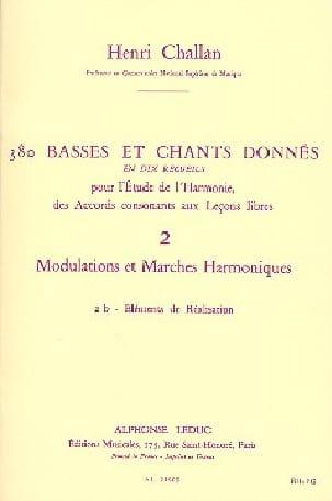 Henri CHALLAN - 380 BASSES ET CHANTS DONNES, vol 2B - Livre - di-arezzo.fr