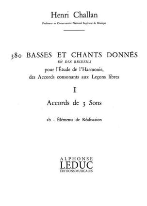 Henri CHALLAN - 380 BASSES AND SONGS GIVEN, Flight 1B: Achievements - Book - di-arezzo.co.uk