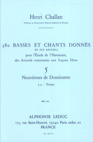 Henri CHALLAN - 380 BASSES AND SONGS GIVEN, vol 5A: texts - Book - di-arezzo.co.uk