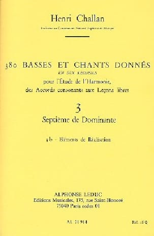 Henri CHALLAN - 380 basses and songs given, vol. 3B: Seventh of dominant - Book - di-arezzo.co.uk