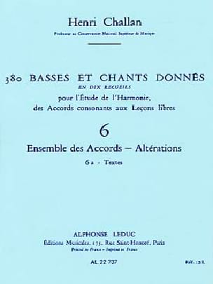 Henri CHALLAN - 380 BASSES AND SONGS GIVEN, vol 6A: texts - Book - di-arezzo.co.uk