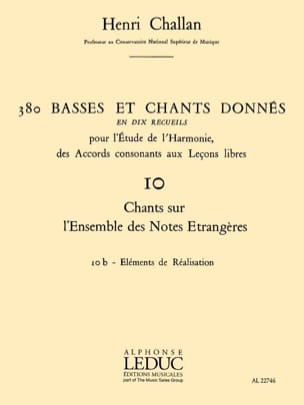 Henri CHALLAN - 380 BASSES AND SONGS GIVEN, Vol 10B: Achievements - Book - di-arezzo.co.uk