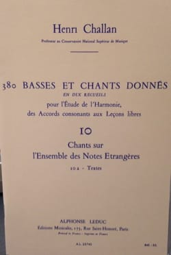 Henri CHALLAN - 380 BASSES AND SONGS GIVEN, vol 10A: texts - Book - di-arezzo.co.uk
