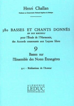 Henri CHALLAN - 380 Basses and songs given - 9c - achievements of the author. - Book - di-arezzo.com