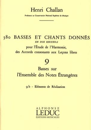 Henri CHALLAN - 380 basses and songs given - 9b - Elements of realization - Book - di-arezzo.co.uk