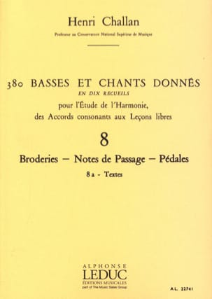 Henri CHALLAN - 380 Basses and songs given - 8a - Texts - Book - di-arezzo.com