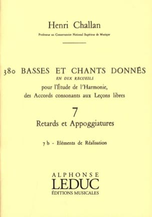 Henri CHALLAN - 380 basses and songs given - 7b-Elements of realizations - Book - di-arezzo.co.uk