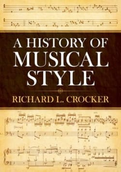 A history of musical style Richard L. CROCKER Livre laflutedepan