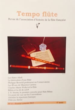 Tempo Flûte n° 11 (1er semestre 2015) - Revue - laflutedepan.com