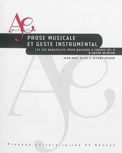 Prose musicale et geste instrumental : les Six bagatelles pour quatuor à cordes laflutedepan