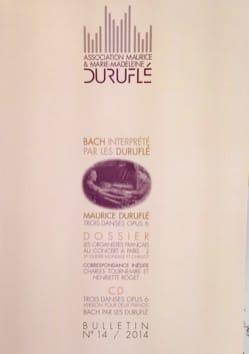 Association Maurice & Marie-Madelaine Duruflé : bulletin n°14 - laflutedepan.com