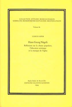 Hans Georg Nägeli Ulrich ASPER Livre Les Oeuvres - laflutedepan