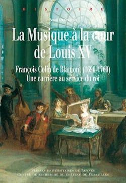 La musique à la cour de Louis XV Benoît DRATWICKI Livre laflutedepan