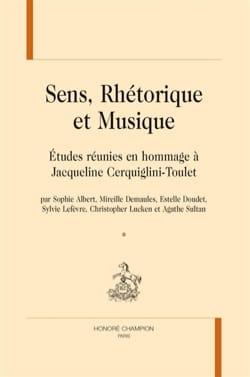 Sens, réthorique et musique ALBERT Sophie ed. Livre laflutedepan