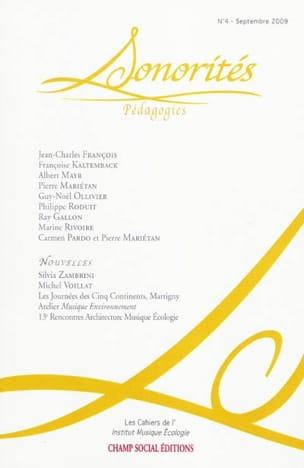 Sonorités, n° 4 : pédagogies Roberto BARBANTI Livre laflutedepan