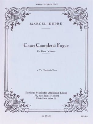 Marcel DUPRÉ - Complete Course of Fugue, Vol. 2: corrected course - Book - di-arezzo.co.uk
