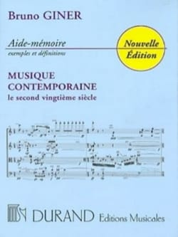 Aide-mémoire musique contemporaine - Bruno GINER - laflutedepan.com