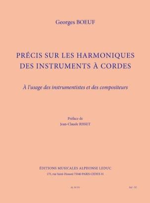 Précis sur les harmoniques des instruments à cordes laflutedepan