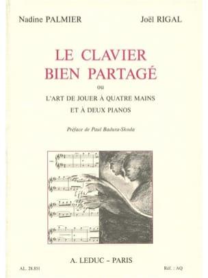 Le clavier bien partagé PALMIER Nadine / RIGAL Joël Livre laflutedepan