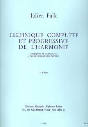Julien FALK - Complete and progressive technique of harmony vol. 1 - Book - di-arezzo.com