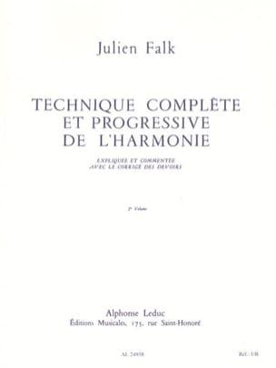Julien FALK - Complete and progressive technique of harmony vol. 2 - Book - di-arezzo.com