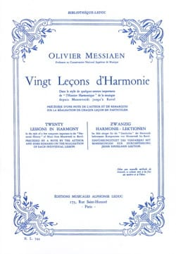 Olivier MESSIAEN - 20 Lessons of Harmony - Book - di-arezzo.co.uk