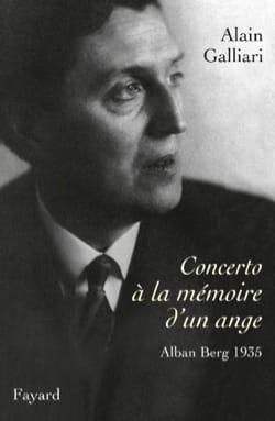 Concerto à la mémoire d'un ange Alain GALLIARI Livre laflutedepan