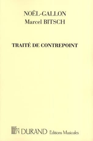 NOEL-GALLON / BITSCH Marcel - Counterpoint treaty - Book - di-arezzo.co.uk