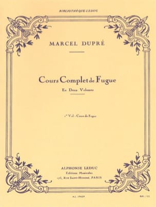 Marcel DUPRÉ - Complete Course of Fugue, Volume 1 - Book - di-arezzo.co.uk