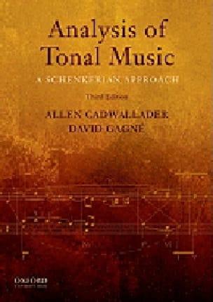 Analysis of tonal music : a Schenkerian approach (livre en anglais) - laflutedepan.com