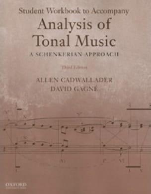 Student workbook to accompany Analysis of tonal music : a Schenkerian approach - laflutedepan.com