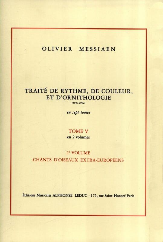 Traité de rythme, de couleur et d'ornithologie - Tome 5 vol. 2 - laflutedepan.com