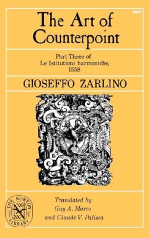 Gioseffo ZARLINO - The art of counterpoint: part three of The harmonized istitution, 1558 - Livre - di-arezzo.com