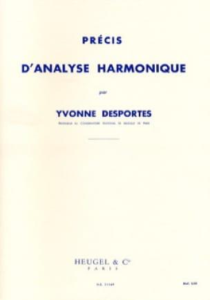 Précis d'analyse harmonique - Yvonne DESPORTES - laflutedepan.com