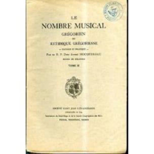 Le nombre musical grégorien ou rythmique grégorienne - Tome 2 - laflutedepan.com