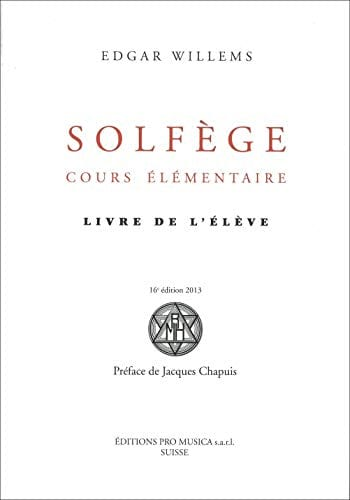 Edgar WILLEMS - Solfeggio Elementary Course: Student Book - Livre - di-arezzo.co.uk