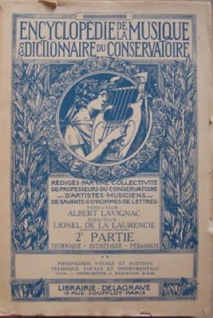 Encyclopédie de la Musique et dictionnaire du Conservatoire - laflutedepan.com