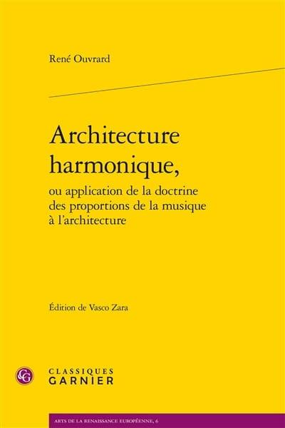 Architecture harmonique - René OUVRARD - Livre - laflutedepan.com