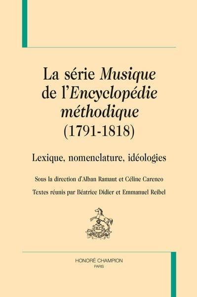 La série Musique de l'Encyclopédie méthodique, 1791-1818 - laflutedepan.com