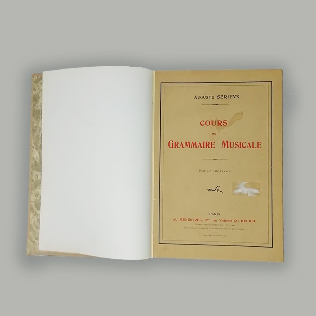Cours de grammaire musicale - Auguste SERIEYX - laflutedepan.com