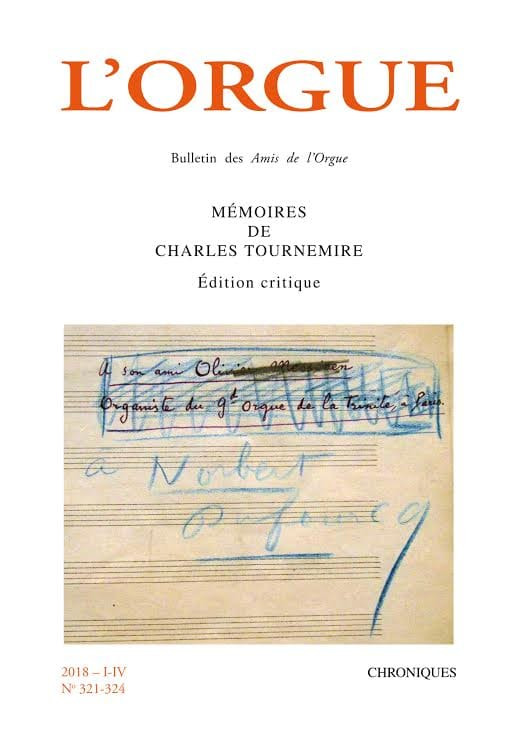 Revue - L'Orgue n°321-324 (2018/I-IV) - Livre - di-arezzo.fr