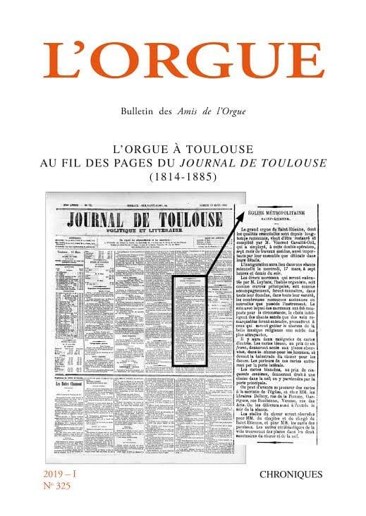 L'orgue, n° 325 (2019-I) - Revue - Livre - laflutedepan.com